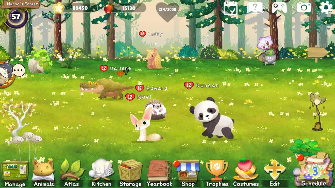 دانلود Animal Forest : Fuzzy Seasons 190 – بازی شبیه سازی جنگل حیوانات اندروید