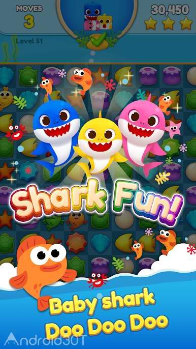 دانلود Baby Shark Match: Ocean Jam 3.0.7 – بازی پازلی بچه کوسه اندروید