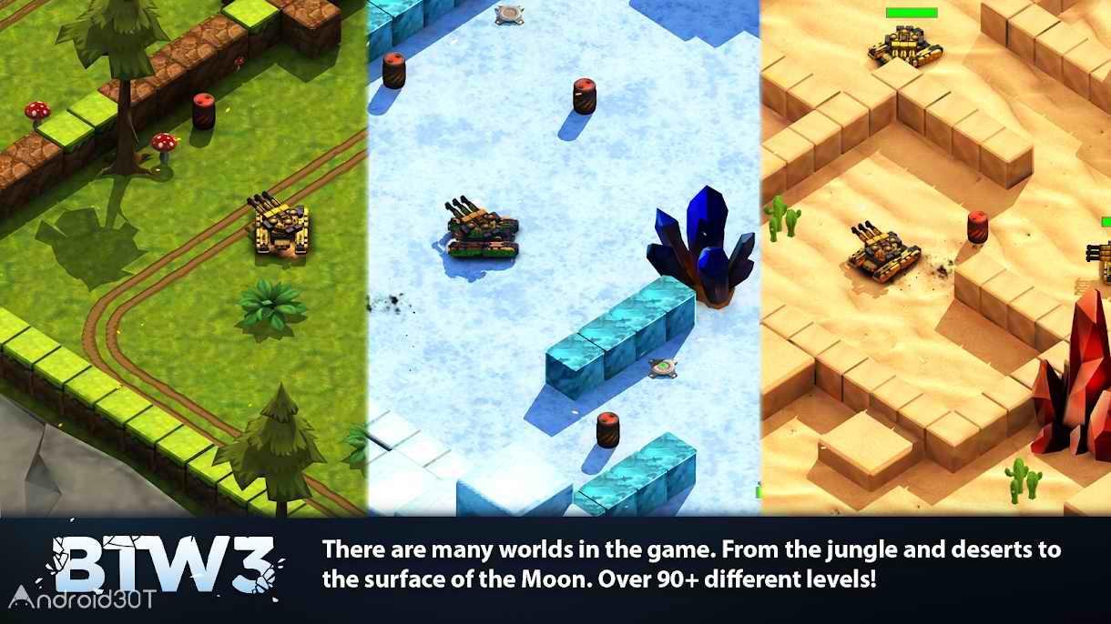 دانلود Block Tank Wars 3 v1.18 – بازی آرکید جنگ تانک ها 3 اندروید