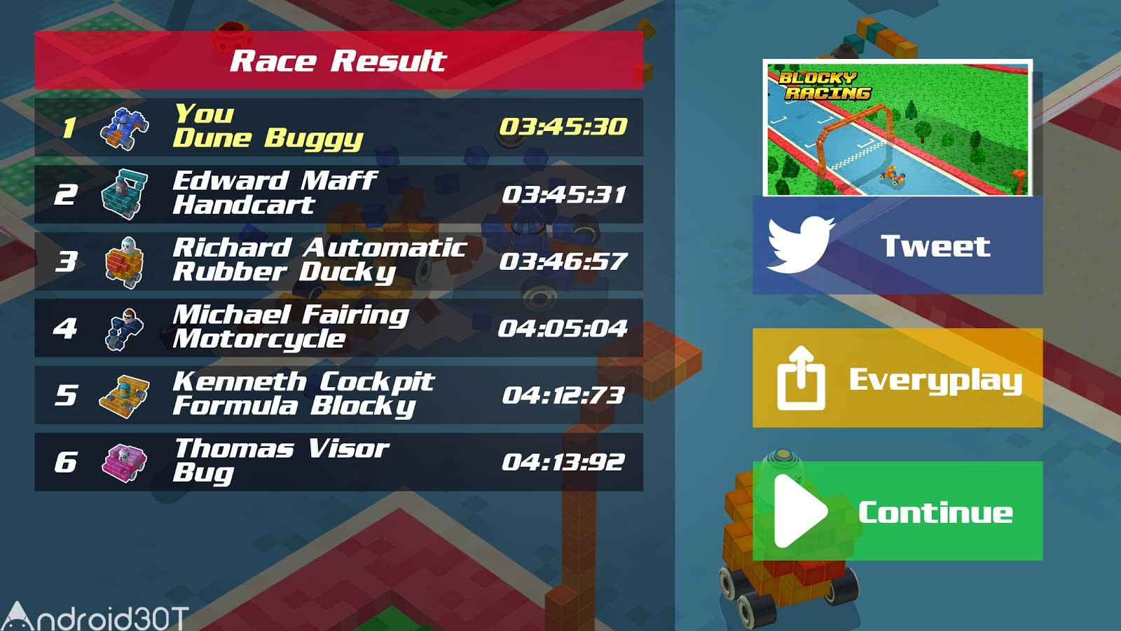 دانلود Blocky Racing 1.0.1 – بازی مسابقه بلوکی اندروید