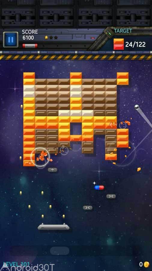 دانلود Brick Breaker Star: Space King 1.9 – بازی مهیج شکستن آجرها اندروید