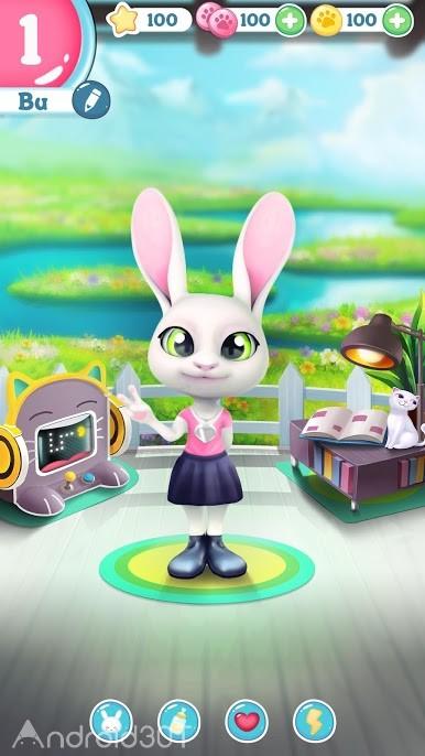 دانلود Bu the Baby Bunny – Cute pet care game 1.03 – بازی مراقبت از حیوان خانگی اندروید