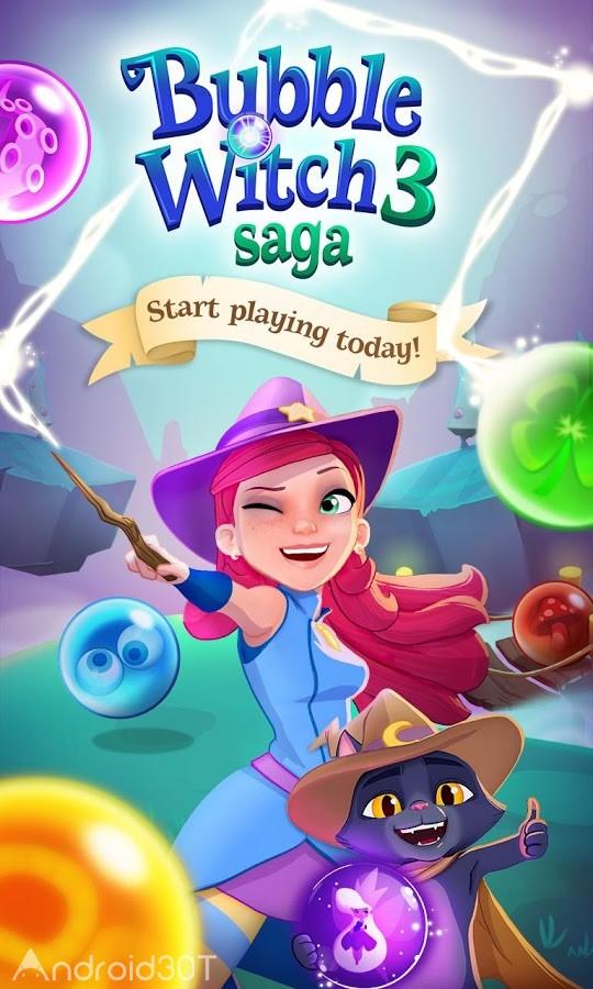 دانلود Bubble Witch 3 Saga 7.3.29 – بازی پازلی حباب جادوگر 3 اندروید