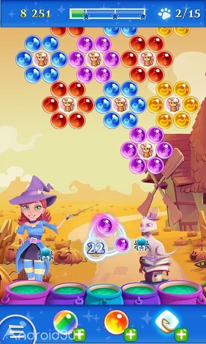 دانلود Bubble Witch 2 Saga 1.125.1 – بازی حباب جادوگر ۲ اندروید