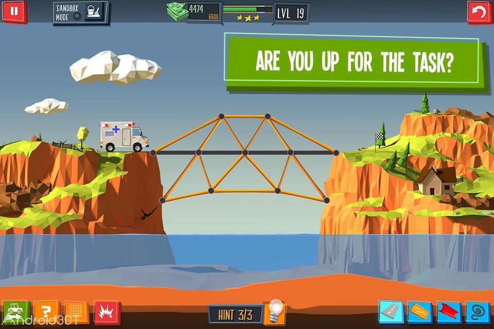 دانلود Build a Bridge 4.0.9 – بازی سرگرم کننده پل سازی اندروید