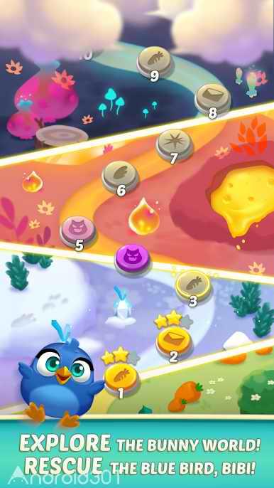 دانلود Bunny Pop 2 Beat the Wolf 1.3.3 – بازی پازلی جالب برای اندروید