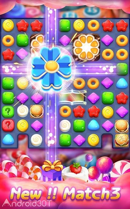 دانلود Candy Charming -Match 3 Games 13.5.3051 – بازی پازلی آب نبات های رنگی اندروید