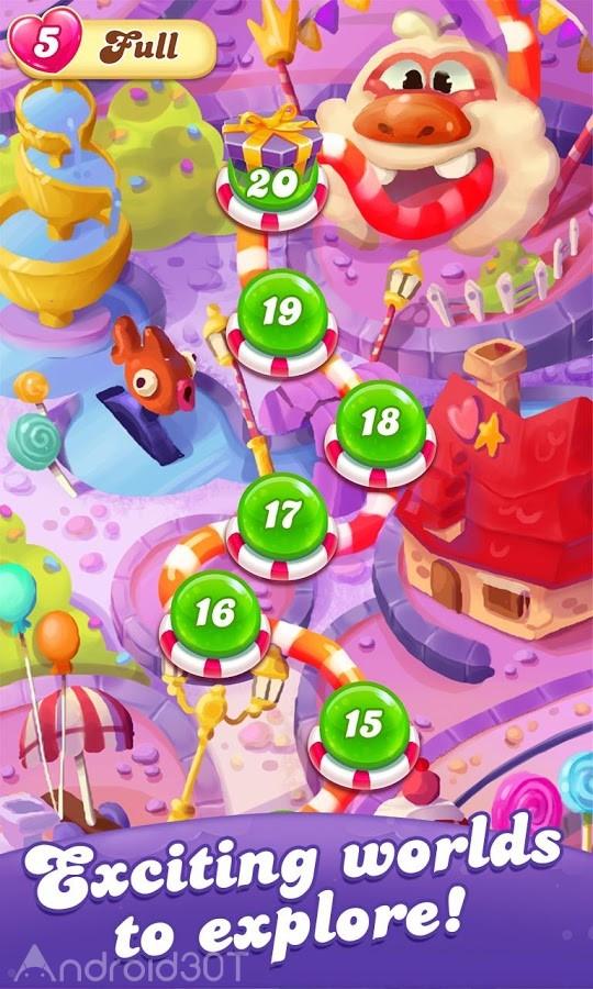 دانلود Candy Crush Friends Saga 1.43.3 – بازی حذف آب نبات های دوستان اندروید