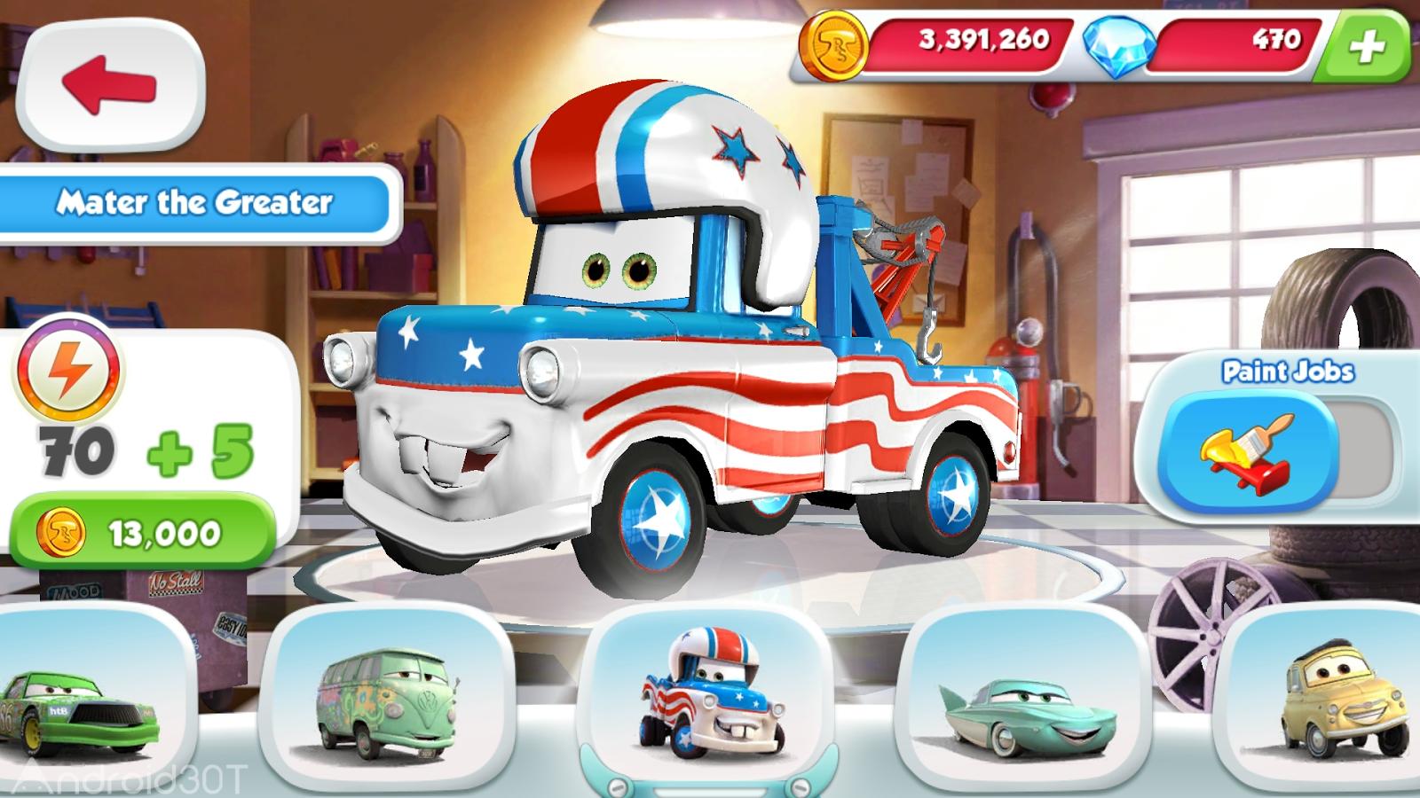 Cars Fast As Lightning 1.3.4d – بازی ماشین ها برای اندروید + مود دیتا