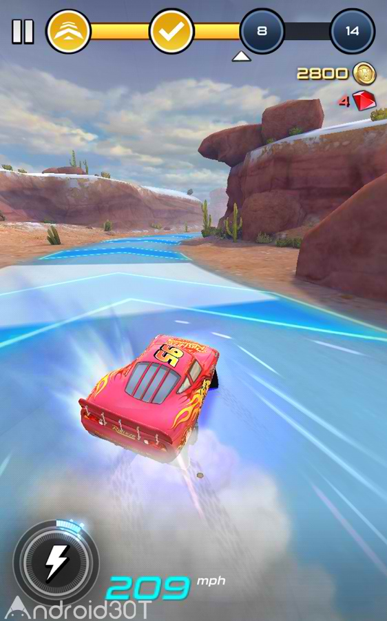 دانلود Cars: Lightning League 1.6 – بازی ماشین سواری مک کوئین اندروید