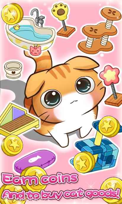 دانلود Cat Room – Cute Cat Games 2.0.25 – بازی نگهداری از گربه ها اندروید