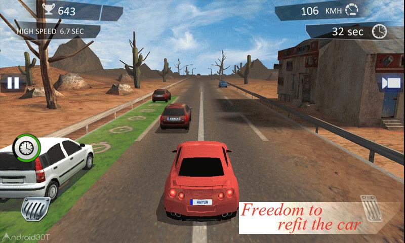 City Traffic Racer Dash 1.1 – بازی رانندگی در ترافیک اندروید + مود