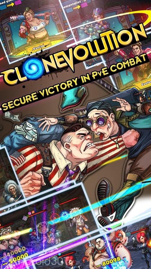 دانلود Clone Evolution: Science Fiction Idle RPG 1.4.6 – بازی تکامل کلون اندروید