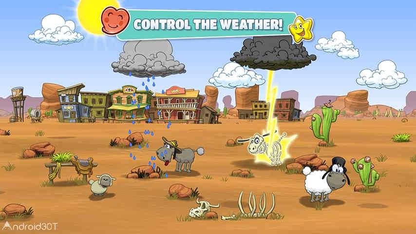 دانلود Clouds & Sheep 2 v1.4.4 – بازی پرطرفدار ابرها و گوسفندان ۲ اندروید