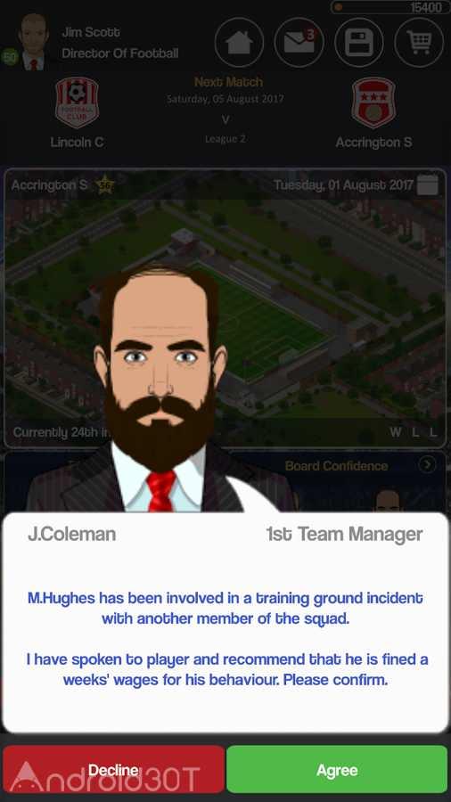 دانلود Club Soccer Director 2018 2.0.8e – بازی مدیریت باشگاه فوتبال اندروید