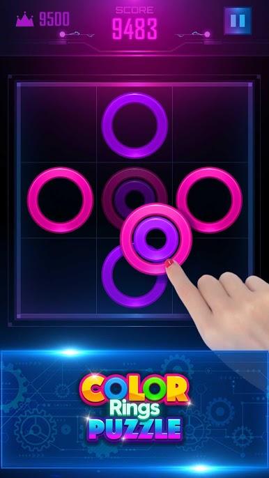 دانلود Color Rings Puzzle 2.3.3 – بازی پازلی حلقه های رنگی اندروید