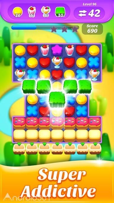 دانلود Cookie Crush – Teasty World 7.2.4 – بازی پازلی کیک و کوکی اندروید