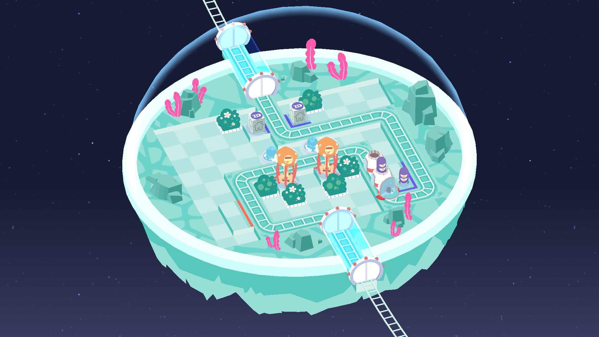 دانلود Cosmic Express 1.0.8 – بازی پازلی حمل و نقل کیهانی اندروید