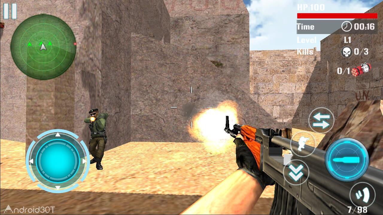 دانلود Counter Terrorist Attack Death 1.0.4 – بازی تیراندازی با تفنگ دوربین دار اندروید