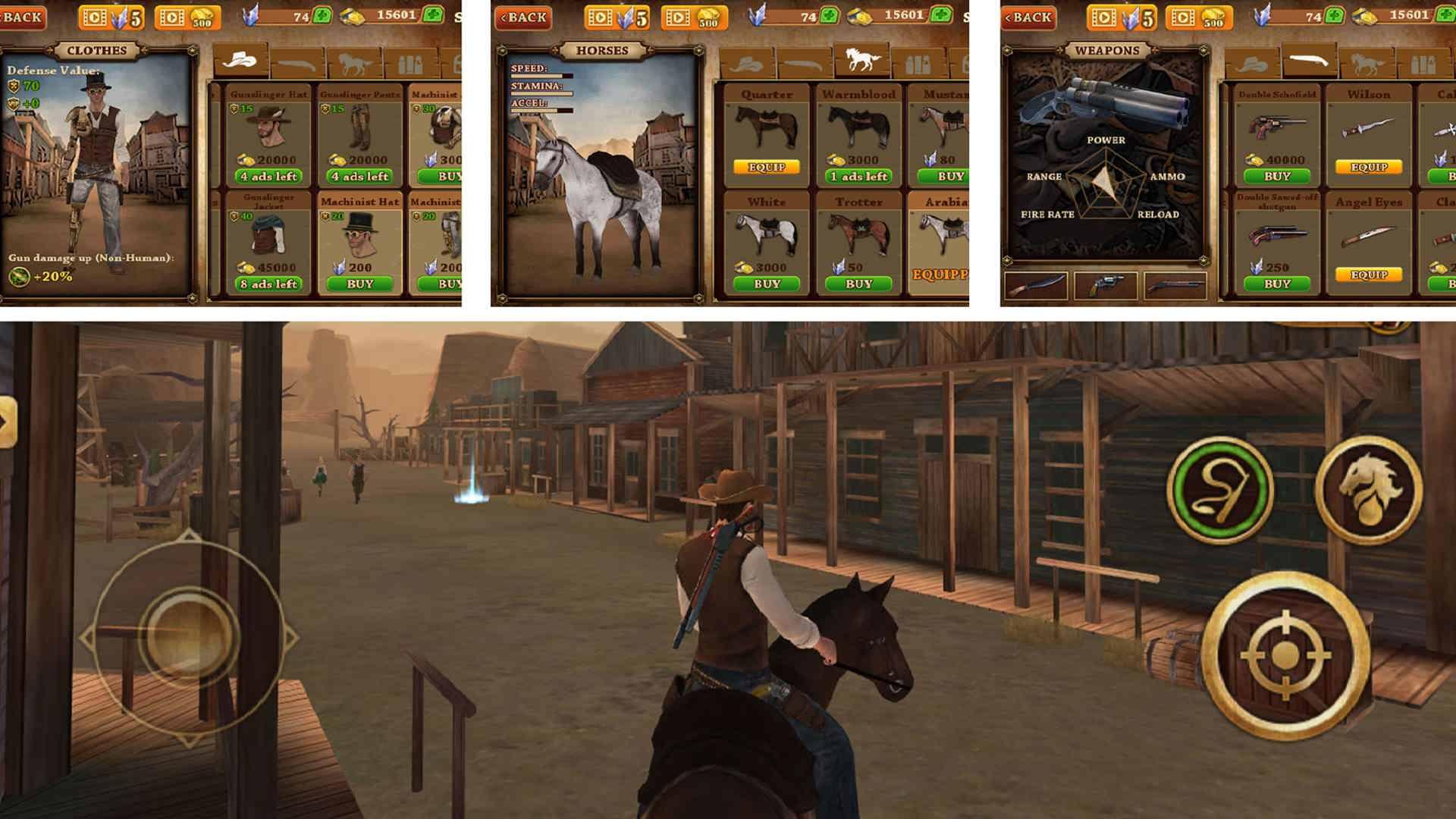 دانلود Cowboy Hunting: Dead Shooter 1.1.1 – بازی اکشن هفت تیرکش غرب وحشی اندروید