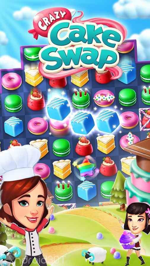 دانلود Crazy Cake Swap 1.78 – بازی پازلی حذف کیک ها اندروید