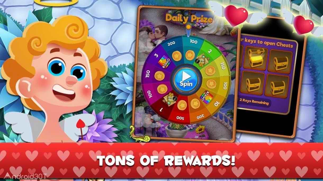 دانلود Cupid Bingo: Valentines Day Love Story 1.41 – بازی سرگرم کننده برای اندروید