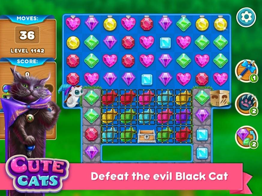 دانلود Cute Cats: Magic Adventure 1.2.6 – بازی پازلی گربه های جادویی اندروید