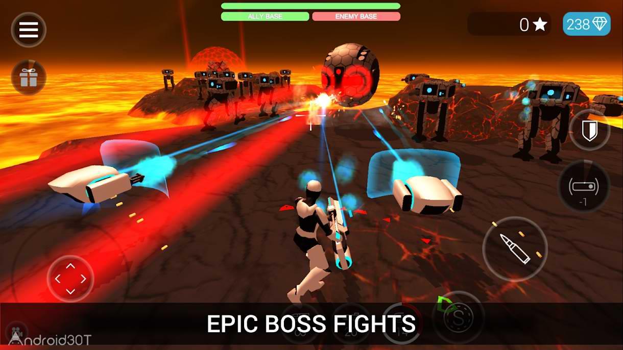 دانلود CyberSphere: Sci-fi Shooter 2.10 – بازی اکشن تیراندازی فضایی اندروید