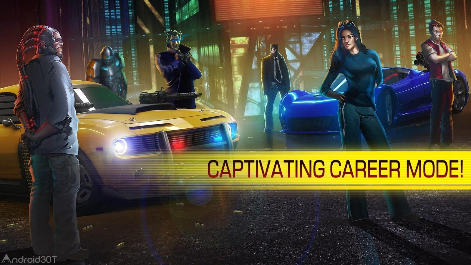 Cyberline Racing 1.0.11131 – بازی اکشن رانندگی اندروید + دیتا