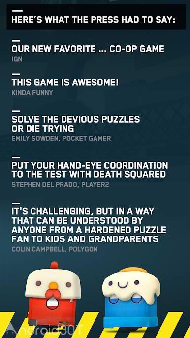 دانلود Death Squared 1.1.0 – بازی مرگ مربع اندروید