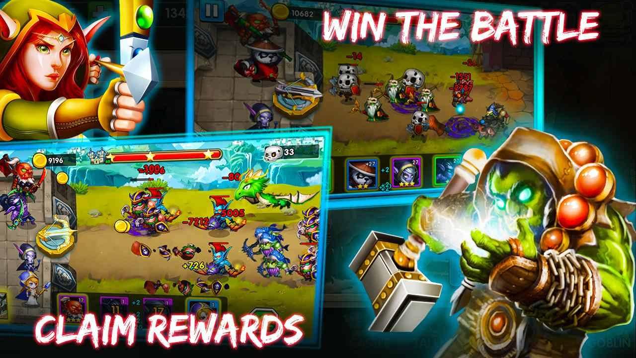 دانلود Defender Heroes: Castle Defense – Epic TD Game v3.9 – بازی قهرمانان مدافع قلعه اندروید