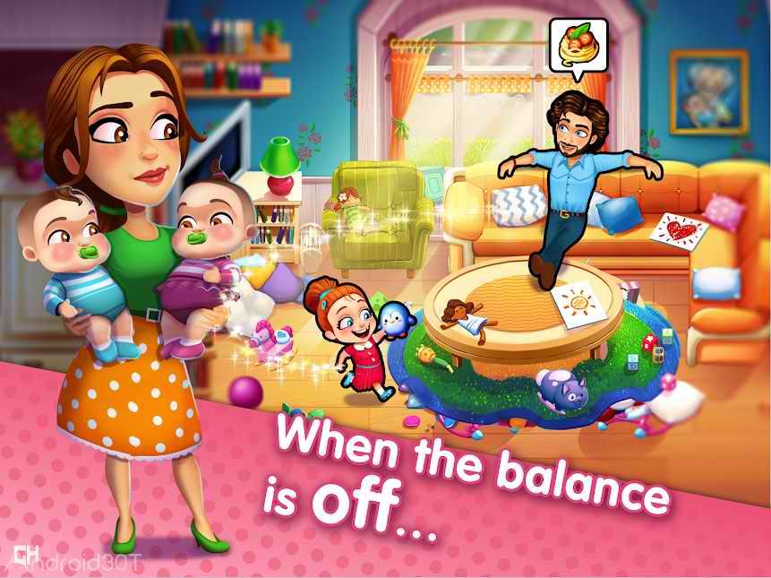 دانلود Delicious – Moms vs Dads 1.0.5 – بازی سرگرم کننده امیلی اندروید