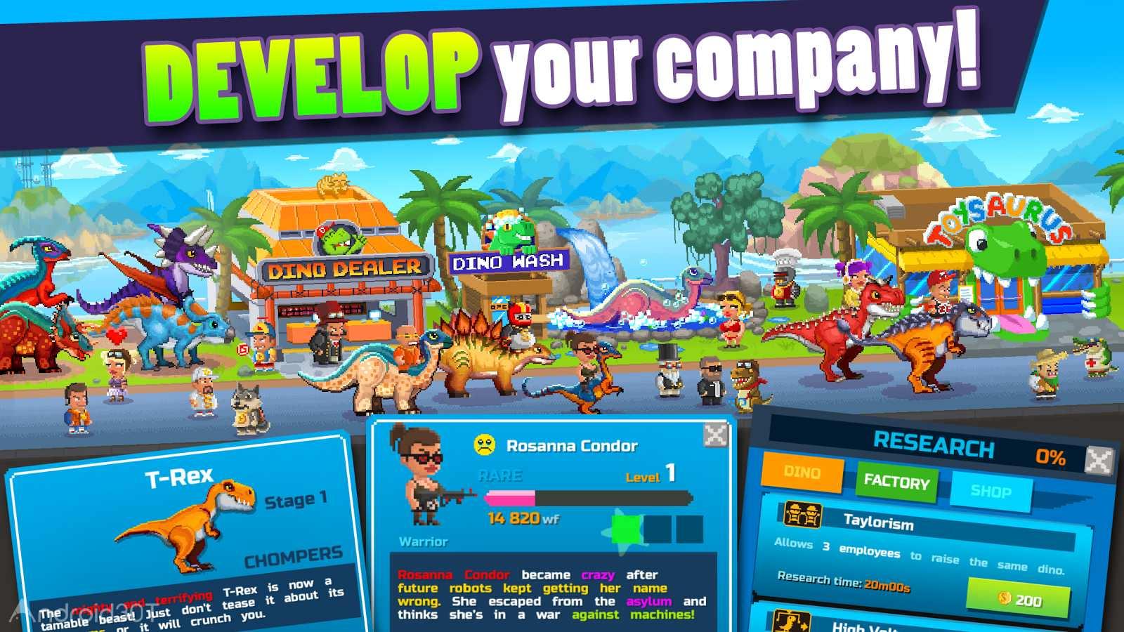 دانلود Dino Factory 1.4.1 – بازی کارخانه دایناسورسازی اندروید