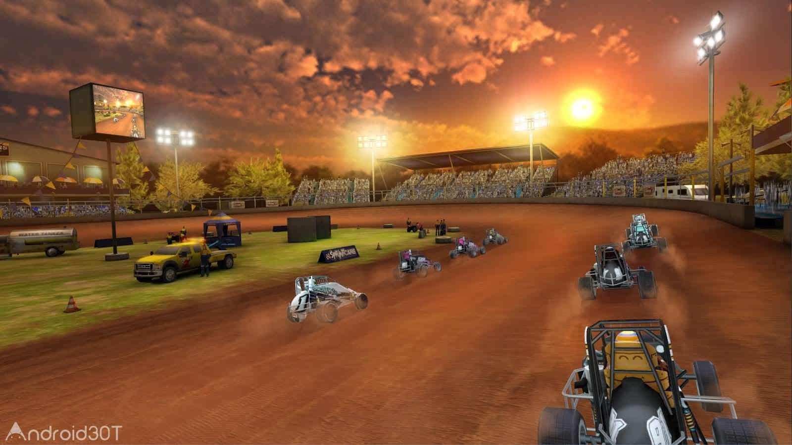 دانلود Dirt Trackin Sprint Cars 3.2.3 – بازی مسابقات اتومبیلرانی برای اندروید