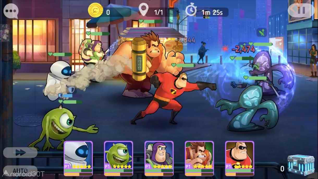 دانلود Disney Heroes: Battle Mode 3.0 – بازی استراتژیکی قهرمانان دیزنی اندروید