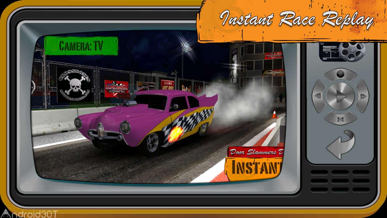 دانلود Door Slammers 310371 – بازی مسابقات درگ خودروهای کلاسیک اندروید