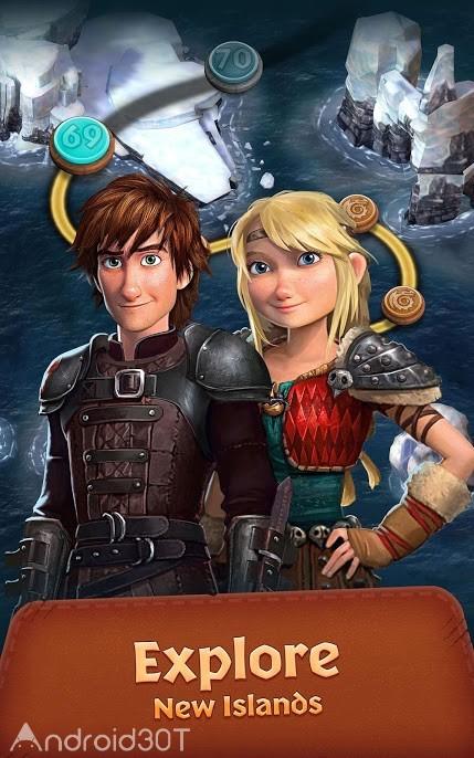 دانلود ۱٫۱۵٫۷ Dragons: Titan Uprising – بازی پازلی اژدهایان اندروید