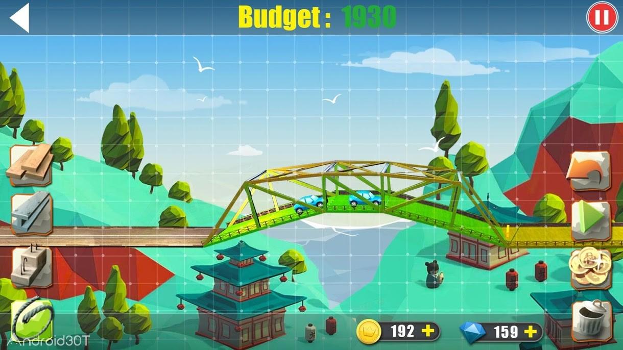دانلود Elite Bridge Builder- Mobile Fun Construction Game 1.1.3 – بازی جالب پل سازی برای اندروید