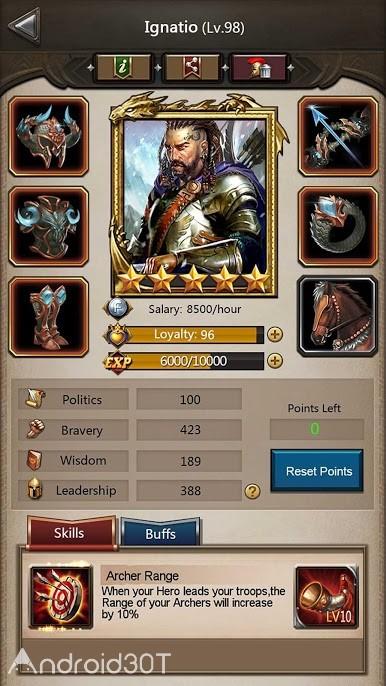 دانلود Empire War: Age of hero Throne 8.490 – بازی استراتژیکی امپراتوری جنگ اندروید