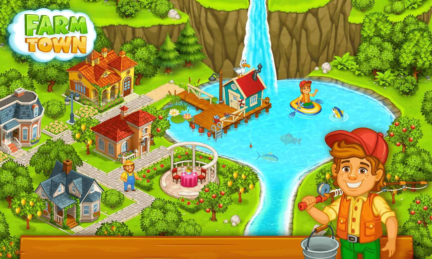 دانلود Farm Town™: Happy Day 3.42 – بازی شهر مزرعه برای اندروید