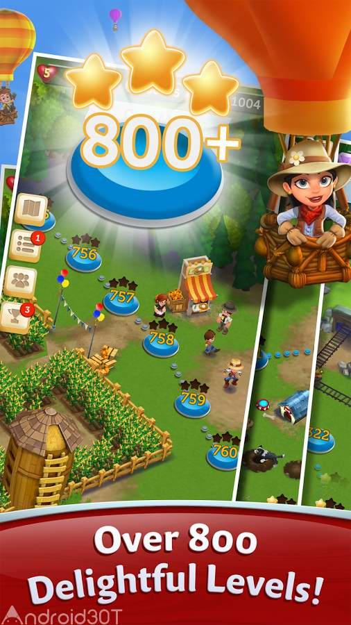 دانلود FarmVille: Harvest Swap 1.0.3422 – بازی پازل مزرعه داری و کشاورزی اندروید