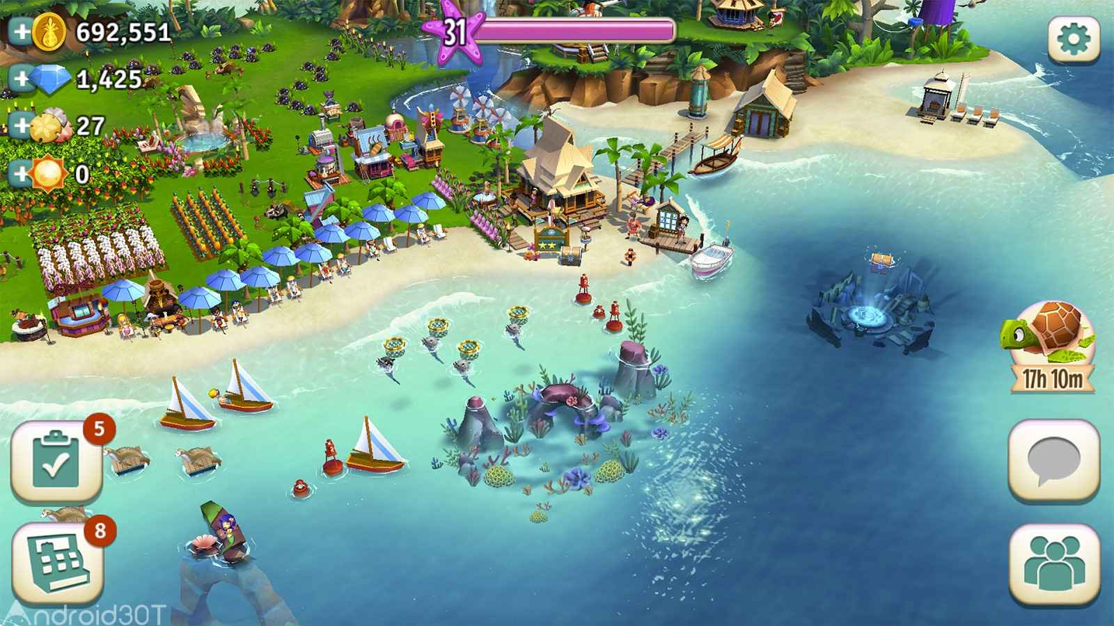 دانلود FarmVille: Tropic Escape v1.103.7524 – بازی ساخت و پرورش جزیره اندروید