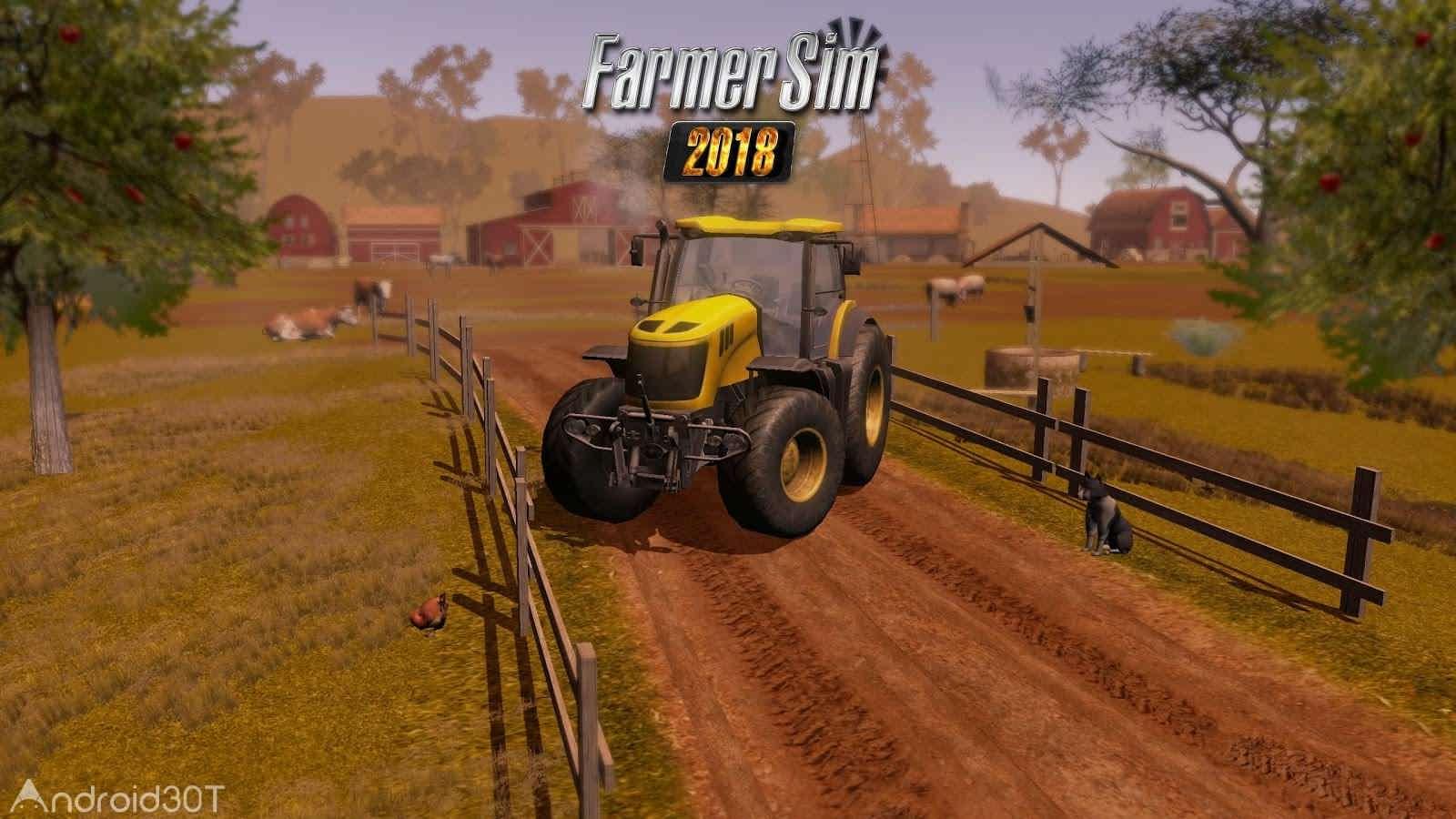 دانلود Farmer Sim 2018 v1.8.0 – بازی شبیه سازی کشاورزی 2018 اندروید