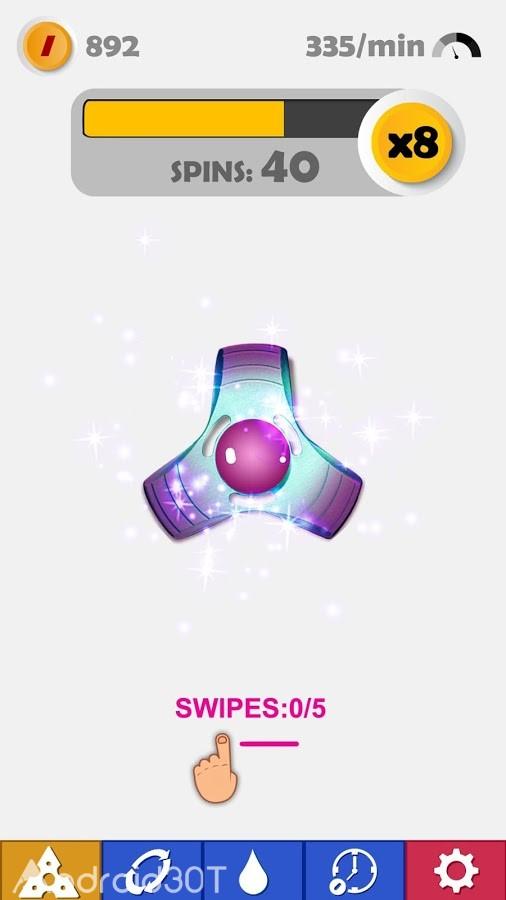 دانلود 1.3.4 Fidget Spinner – بازی جذاب اسپینر برای اندروید