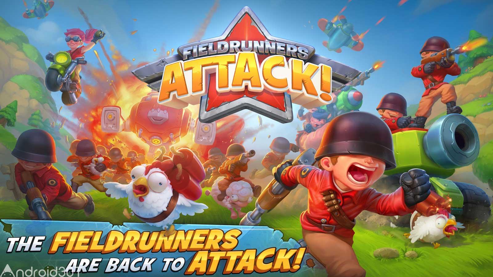 دانلود Fieldrunners Attack 1.0.14.1 – بازی جذاب حمله به سرزمین اندروید