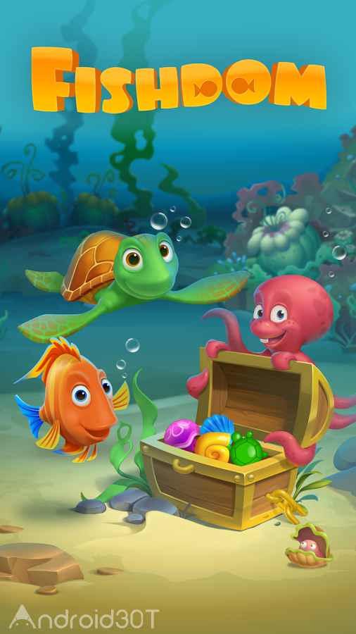 دانلود Fishdom: Deep Dive 5.73.0 – بازی پازلی اعماق دریا اندروید