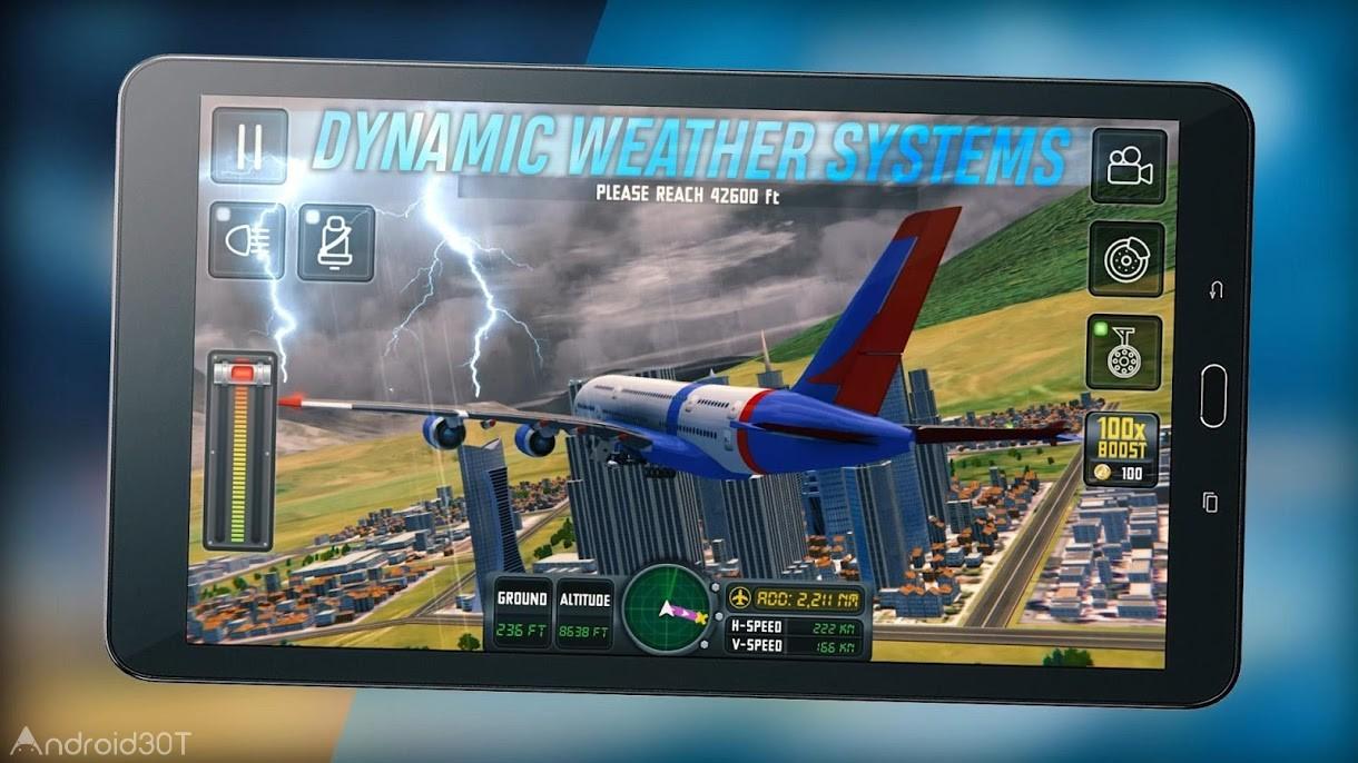 دانلود Flight Sim 2018 v3.1.3 – بازی شبیه ساز پرواز 2018 اندروید