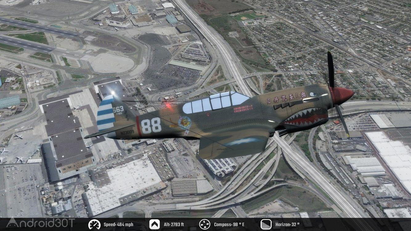 Flight Unlimited 2K16 HD 1.1 بازی شبیه ساز پرواز هواپیما اندروید