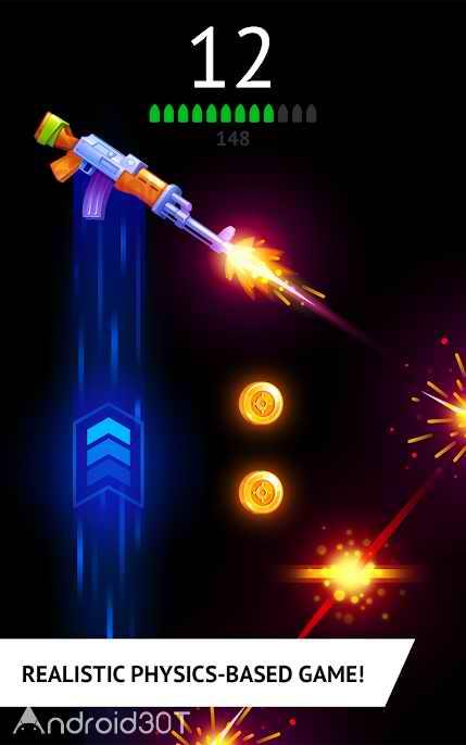 دانلود Flip the Gun – Simulator Game 1.2 – بازی رقابتی بدون دیتای اندروید