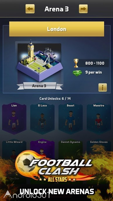 دانلود Football Clash: All Stars 2.0.15s – بازی فوتبالی ستاره ها اندروید
